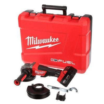 M18 Fuel 18-Volt Lithium-Ion Brushless Cordless 4-1/2 in. /5 in. Grinder, Paddle Switch No-Lock Kit