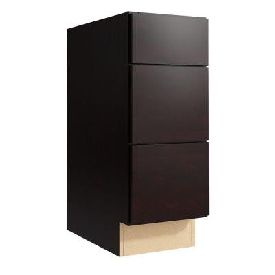 Fiske 12 in. W x 31 in. H Vanity Cabinet Only in Coffee