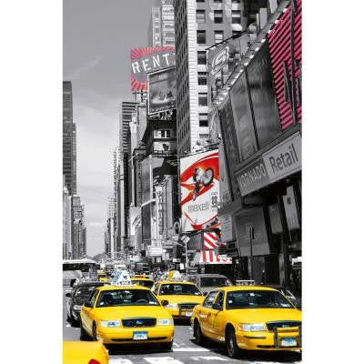 69 in. x 45 in. Times Square Li Wall Mural