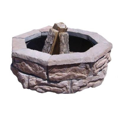 30 in. Concrete Fossill Brown Fire Pit Kit