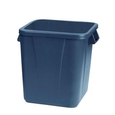 Bronco 28 Gal. Gray Square Trash Can (6-Pack)