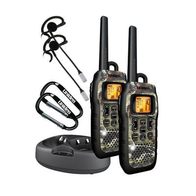 50-Mile Camouflage Tru-Waterproof GMRS with Headsets and DC Cord