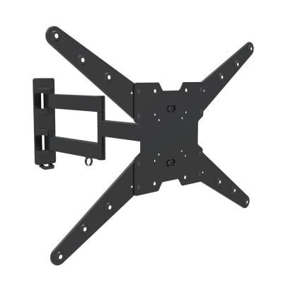 Full Motion Dual Arm TV Wall Mount for 37 in. - 70 in. Curved/Flat Panel TV's with 15 Degree Tilt, 77 lb. Load Capacity