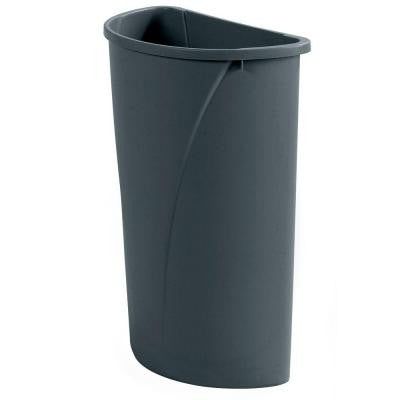 Centurian 21 Gal. Gray Half-Round Trash Can (4-Case)