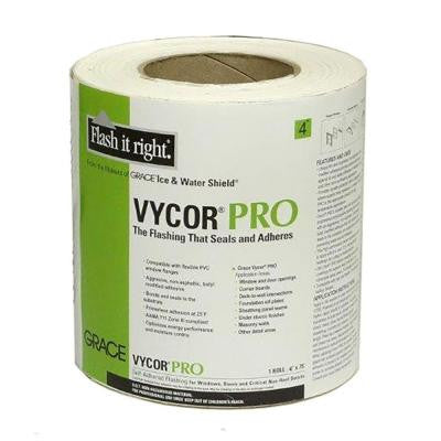 4 in. x 75 ft. Vycor Pro Fully-Adhered Butyl Flashing (12-Rolls per Case)