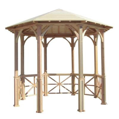 10 ft. Octagon English Cottage Garden Gazebo - Adjustable for Uneven Patio