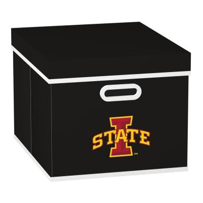College STACKITS Iowa State University 12 in. x 10 in. x 15 in. Stackable Black Fabric Storage Cube