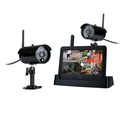 Observer Connected Touchscreen Surveillance System with 2 Outdoor Cameras and 7 in. Monitor