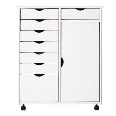 Stanton 29 in. White 8-Drawer Double Wide Storage Cart