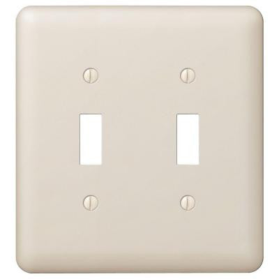 Devon 2 Toggle Wall Plate - Almond