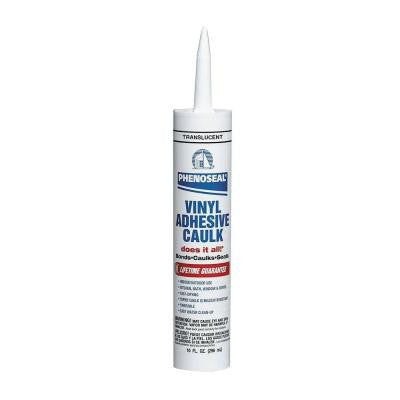Does It All 10 oz. Translucent Vinyl Adhesive Caulk (12-Pack)