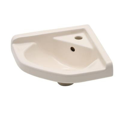English Turn Corner Wall-Mounted Bathroom Sink in Bisque
