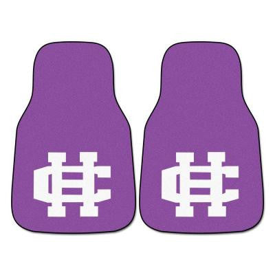 NCAA College of the Holy Cross Heavy Duty 2-Piece 18 in. x 27 in. Nylon Carpet Car Mat