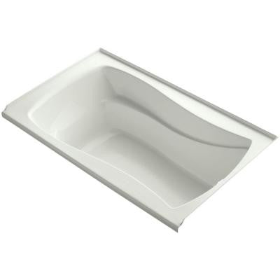 Mariposa 5 ft. Right Drain Soaking Tub in Dune with Bask Heated Surface