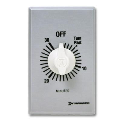 FF Series 10 Amp 30-Minute Commercial Auto-Off In-Wall Dial Timer - Gray