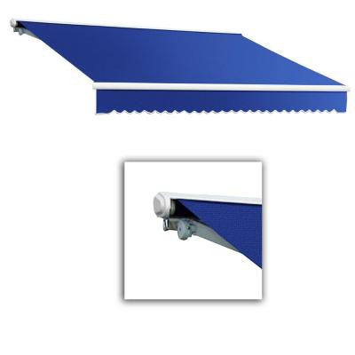 16 ft. Galveston Semi-Cassette Left Motor with Remote Retractable Awning (120 in. Projection) in Blue