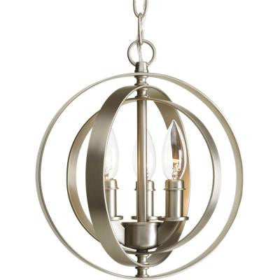 Equinox Collection 3-Light Burnished Silver Pendant