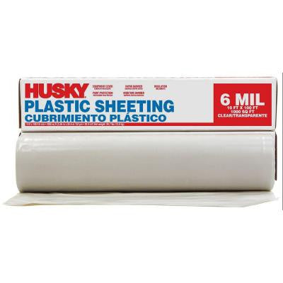 10 ft. x 100 ft. Clear 6 mil Polyethylene Sheeting (56 Rolls / Pallet)