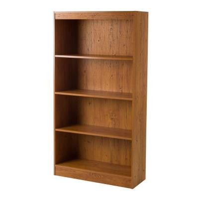 Axess 4-Shelf Bookcase in Country Pine