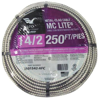 250 ft. 14-2 Solid MC Lite Cable