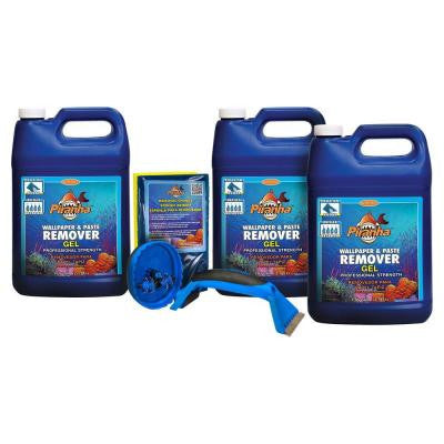 Piranha 3-gal. Gel Wallpaper Removal Kit for Large Sized Rooms