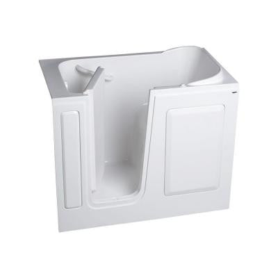 Gelcoat Standard Series 48 in. x 28 in. Walk-In Air Bath Tub in White