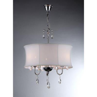 Melissa 3-Light Chrome Crystal Chandelier