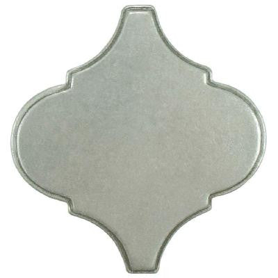 Contempo Lantern Insert Pewter 3 in. x 3 in. Metallic Wall Trim Tile