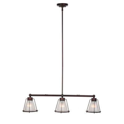 Essex 3-Light Textured Coffee Bronze Indoor Pendant