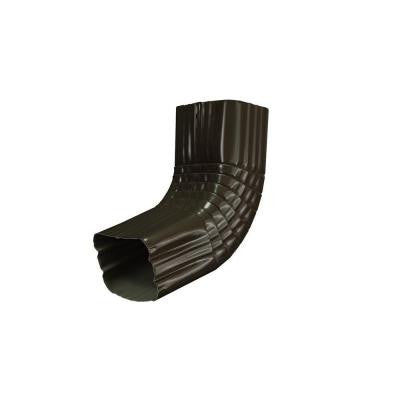 3 in. x 4 in. Dark Bronze Aluminum Downspout A Elbow