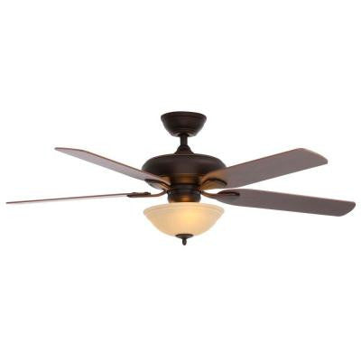 Flowe 52 in. Mediterranean Bronze Ceiling Fan