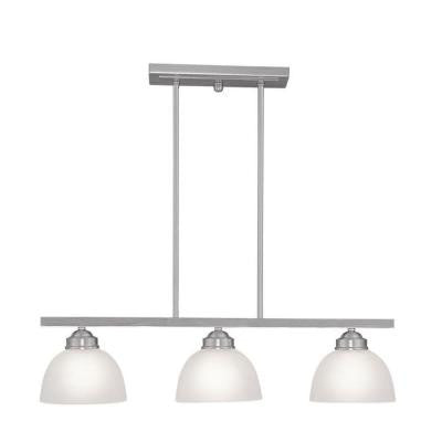Providence 3-Light Brushed Nickel Incandescent Island Pendant