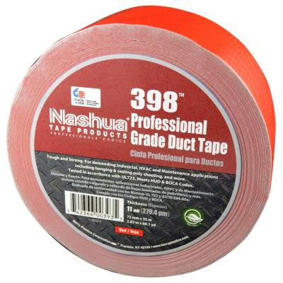 2.83 in. x 60.1 yds. 398 All-Weather HVAC Duct Tape in Red