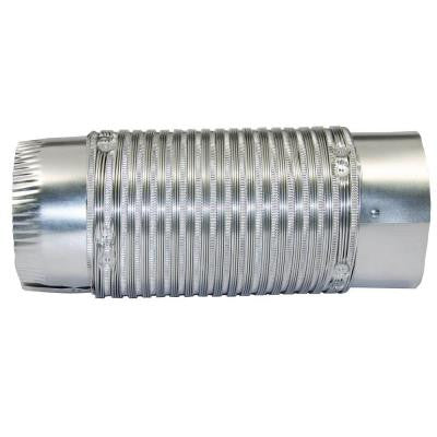 4 in. x 24 in. Round Aluminum Flex Pipe with Push Fit Connection
