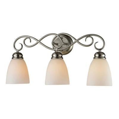 Chatham 3-Light Brushed Nickel Wall Mount Bath Bar Light