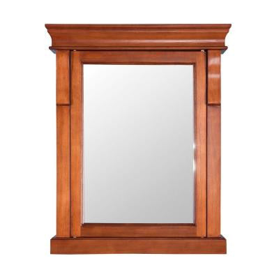 Naples 25 in. x 31 in. Surface Mount Medicine Cabinet in Warm Cinnamon