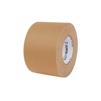 4 in. x 55 yds. Tan Gaffer Industrial Vinyl Cloth Tape (3-Pack)