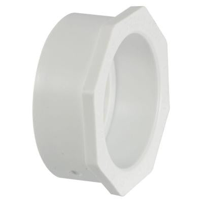 3 in. x 1-1/2 in. PVC DWV Spigot x Hub Flush Bushing