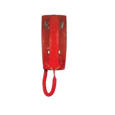 Wall Phone without Dial Pad - Red