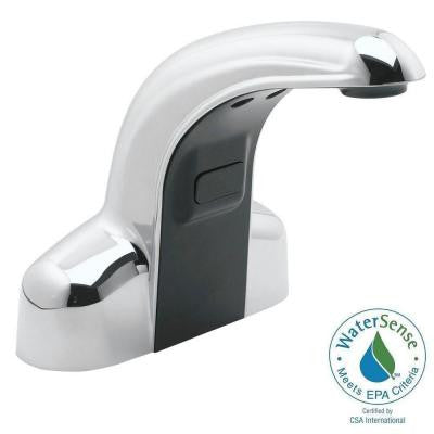 Sensorflo Battery-Powered Touchless Lavatory Faucet in Polished Chrome