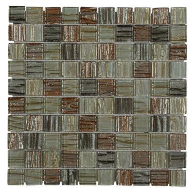 Gemini Mercury 11-1/4 in. x 11-1/4 in. x 6 mm Glass Mosaic Tile