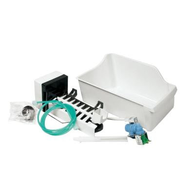 14 in. 8 lb. Ice Maker Kit in White for Top Freezer Refrigerator