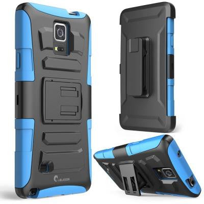 Prime Dual Layer Holster Case for Samsung Galaxy Note 4 - Blue