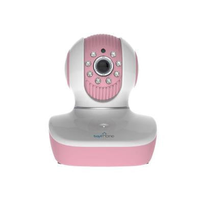 Baby Cam Wireless HD 720p Pink Pan and Tilt Wi-Fi Dome Camera with 2-Way Audio and Night Vision