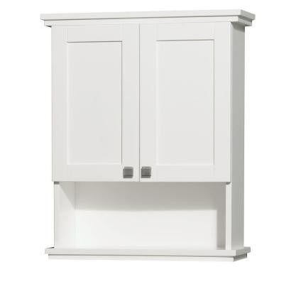 Acclaim 25 in. W x 9.125 in. D x 30 in. H Wall Cabinet in White