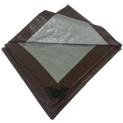 6 ft. x 8 ft. Brown Silver Polyethylene Heavy Duty Tarp