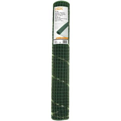 40 in. x 25 ft. Green Plastic Garden Fence