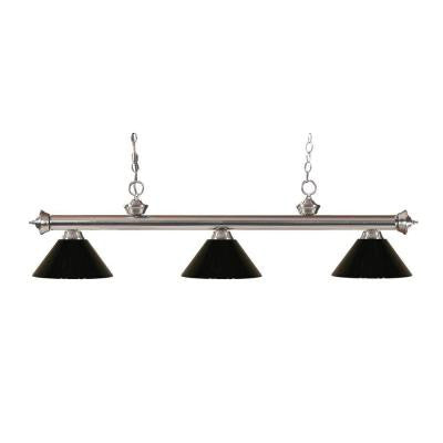 Lawrence 3-Light Brushed Nickel Island Light