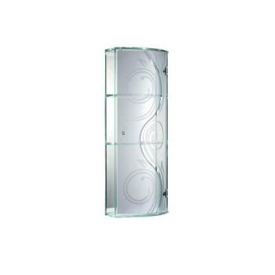 Swirly 6 in. W Wall Cabinet in Clear with Silver Mirror