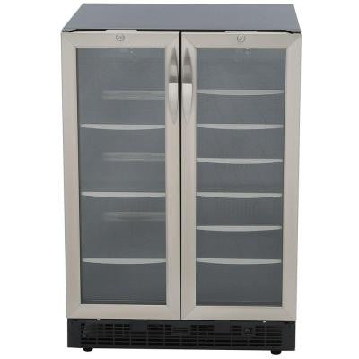 Silhouette 27-Bottle Built-In Wine Cooler and 60-Can Beverage Center